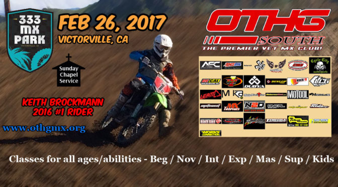 OTHG RACE – 333MX – Feb 26, 2017